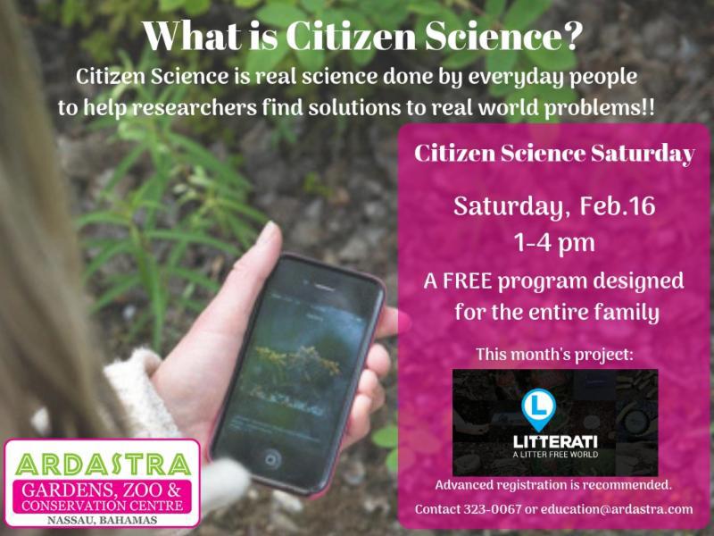 Citizen Science Saturdays At Ardastra Gardens