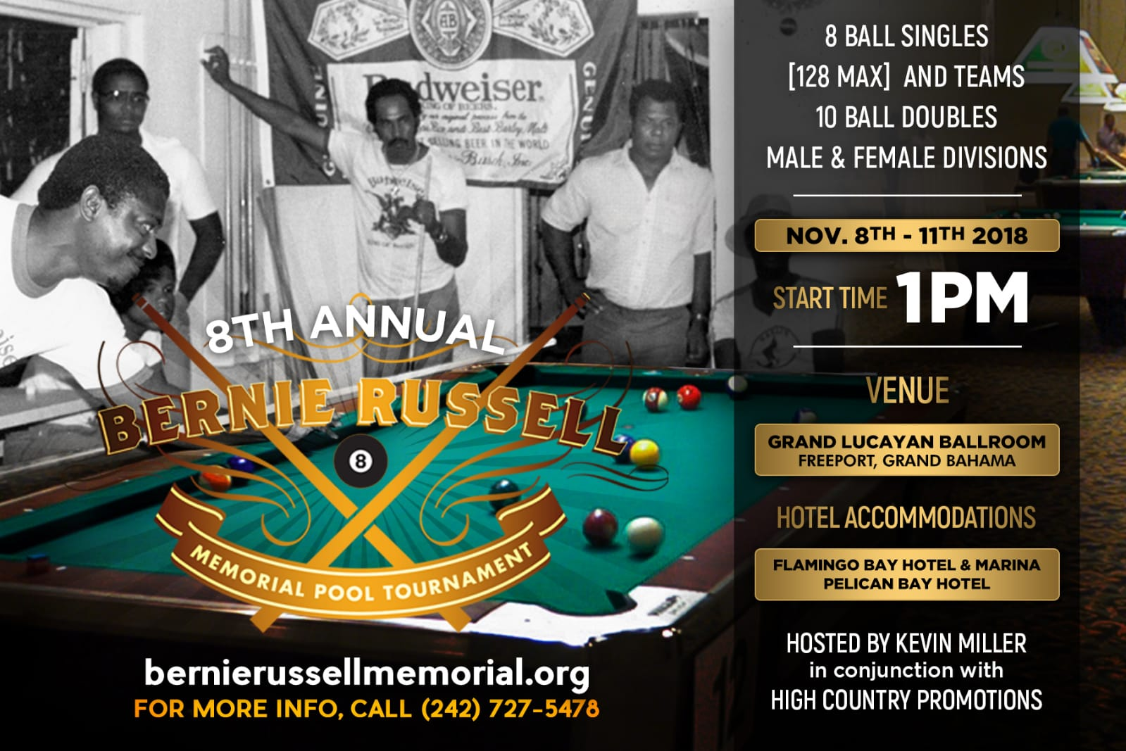 8th Annual Bernie Russell Memorial Pool Tournament