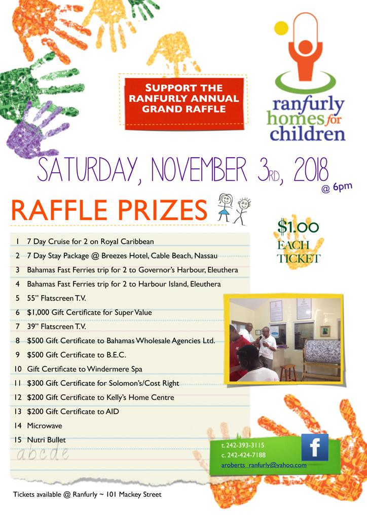 Annual Grand Raffle Hosted by Ranfurly Homes for Children