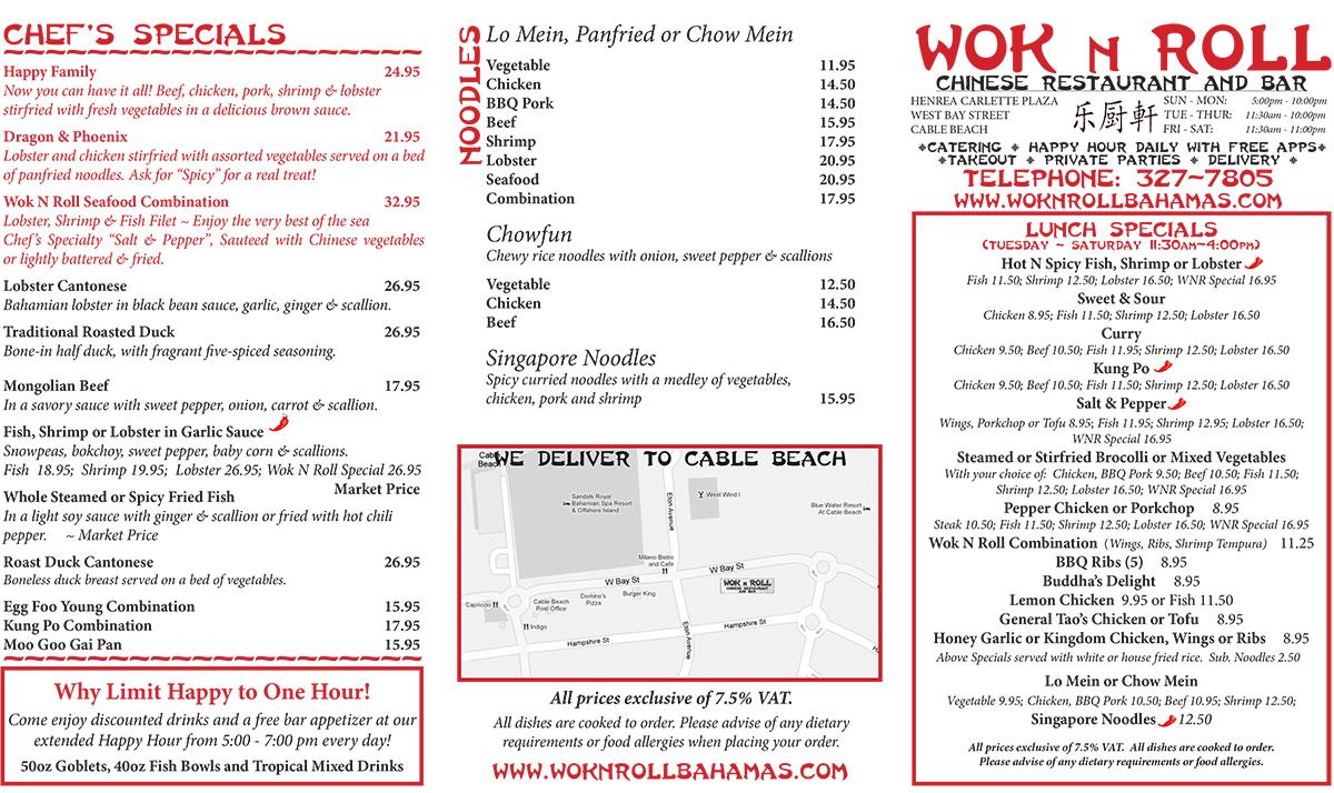 Wok N Roll Chinese Restaurant And Bar Nassau Nassau