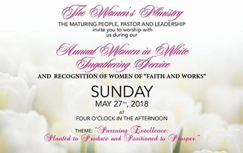 Women In White Hosted by Zion Baptist Church East & Shirley Streets