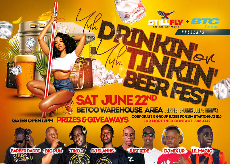 Yuh Drinking or Yuh Tinkin Beer Fest.