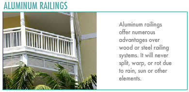 Customized Railing: Aluminum Railings.
