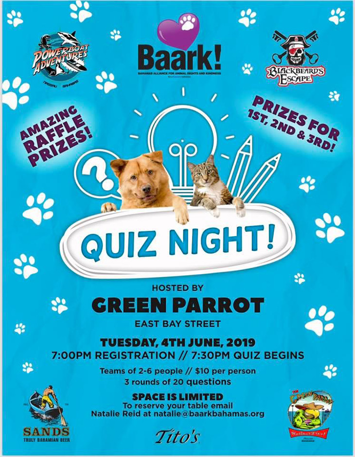 BAARK! Trivia night at Green Parrot