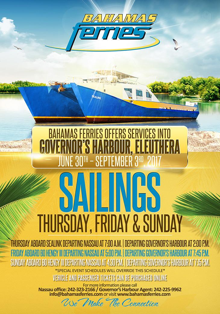 Paradise Island Ferry Terminal Bahamas Map