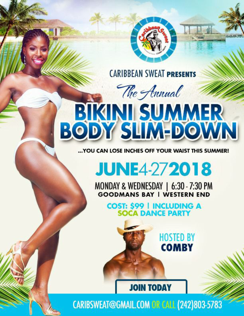 The Annual Bikini Summer Body Slim-Down Presented by Carribean Sweat