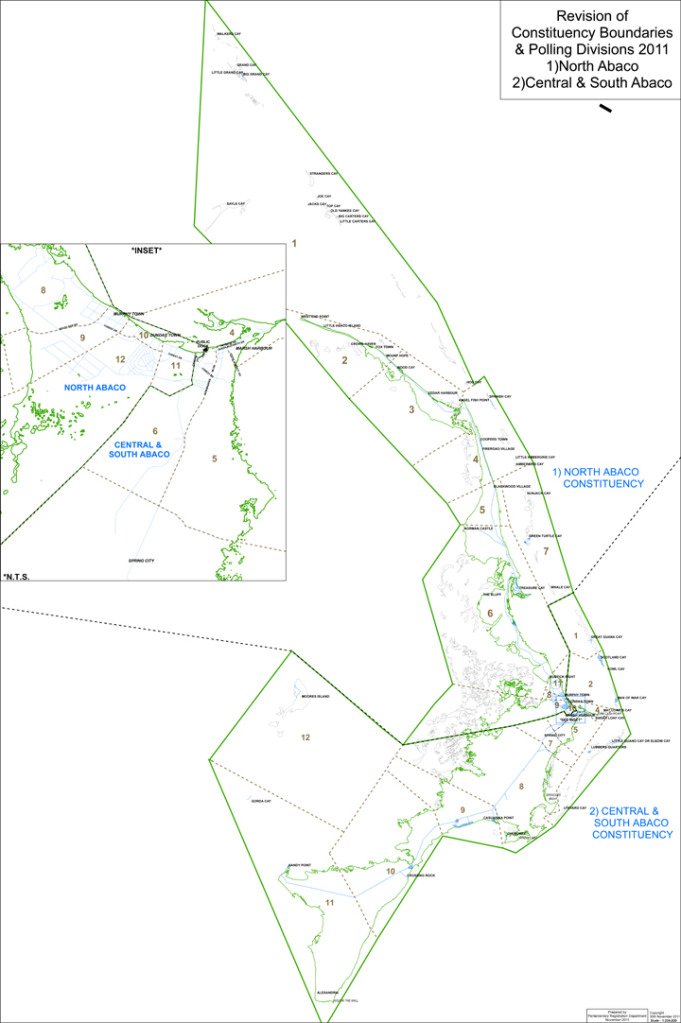 Central and South Abaco Constituency Map
