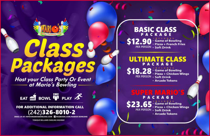 Class Packages at Marios Bowling and Entertainment Palace.