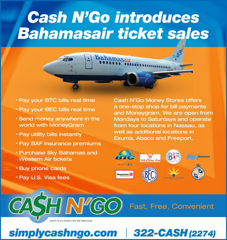 Cash N Go partners with Bahamasiair