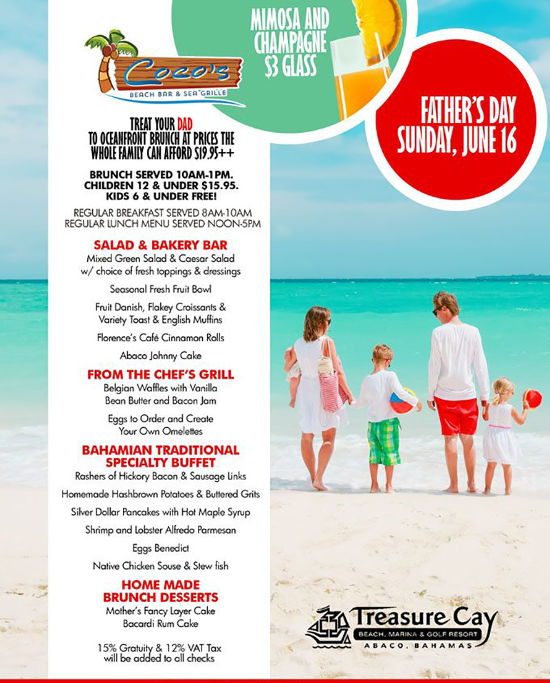 Father's Day at Treasure Cay Hotel Resort & Marina, Abaco Bahamas