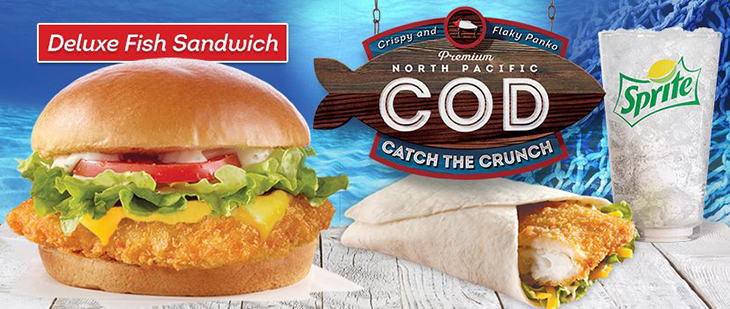 Try our Deluxe Fish Sandwich!