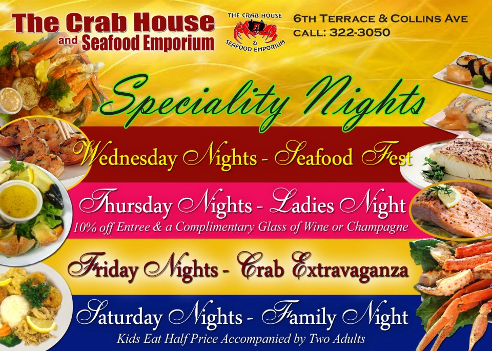 The Crab House Specialty Nights