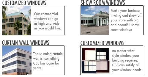 Commercial Windows: Customized Windows. Curtain Wall Windows. Show Room Windows.
