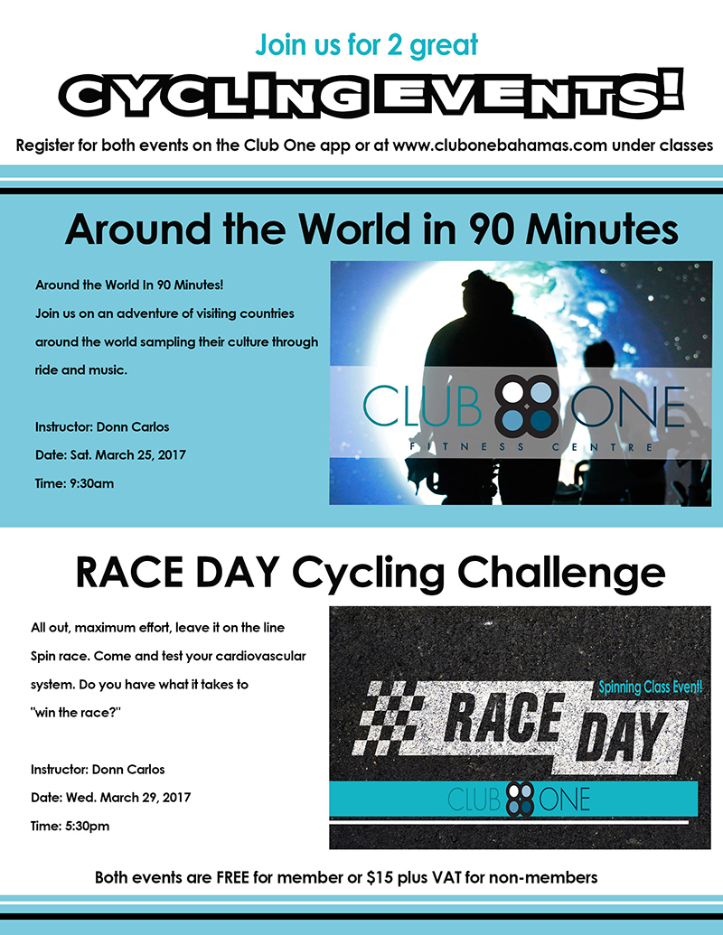Cycling Events at Club One Fitness Centre