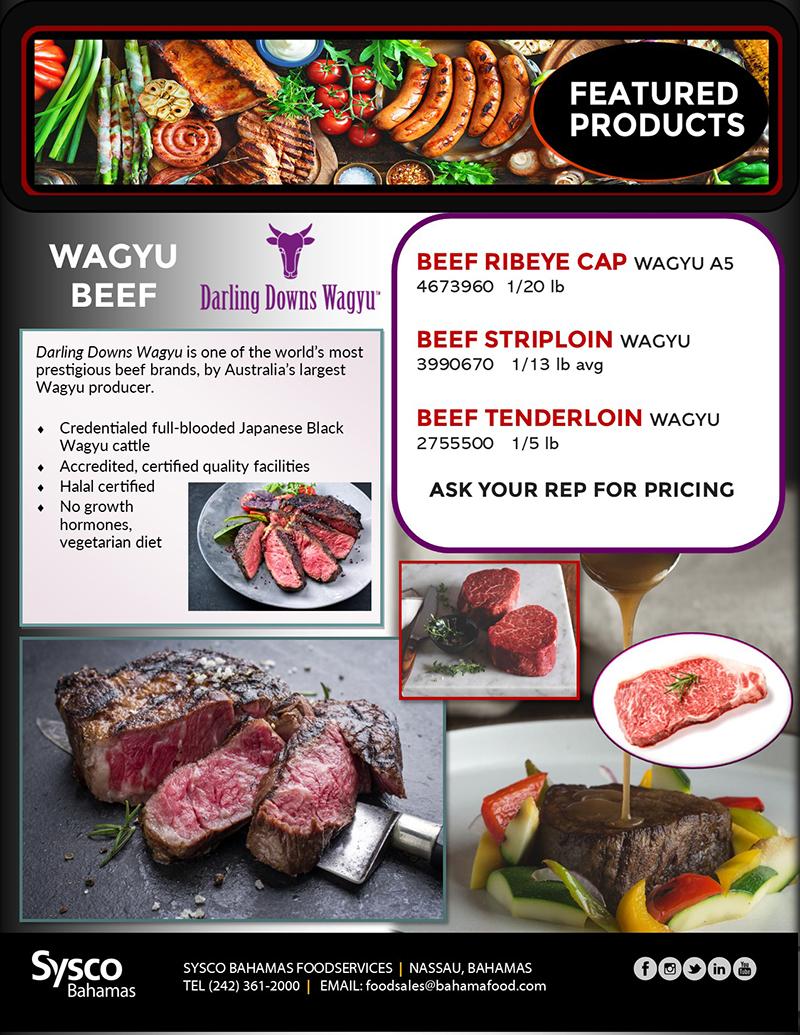 Sysco Bahamas Featured Products - Waygu Beef