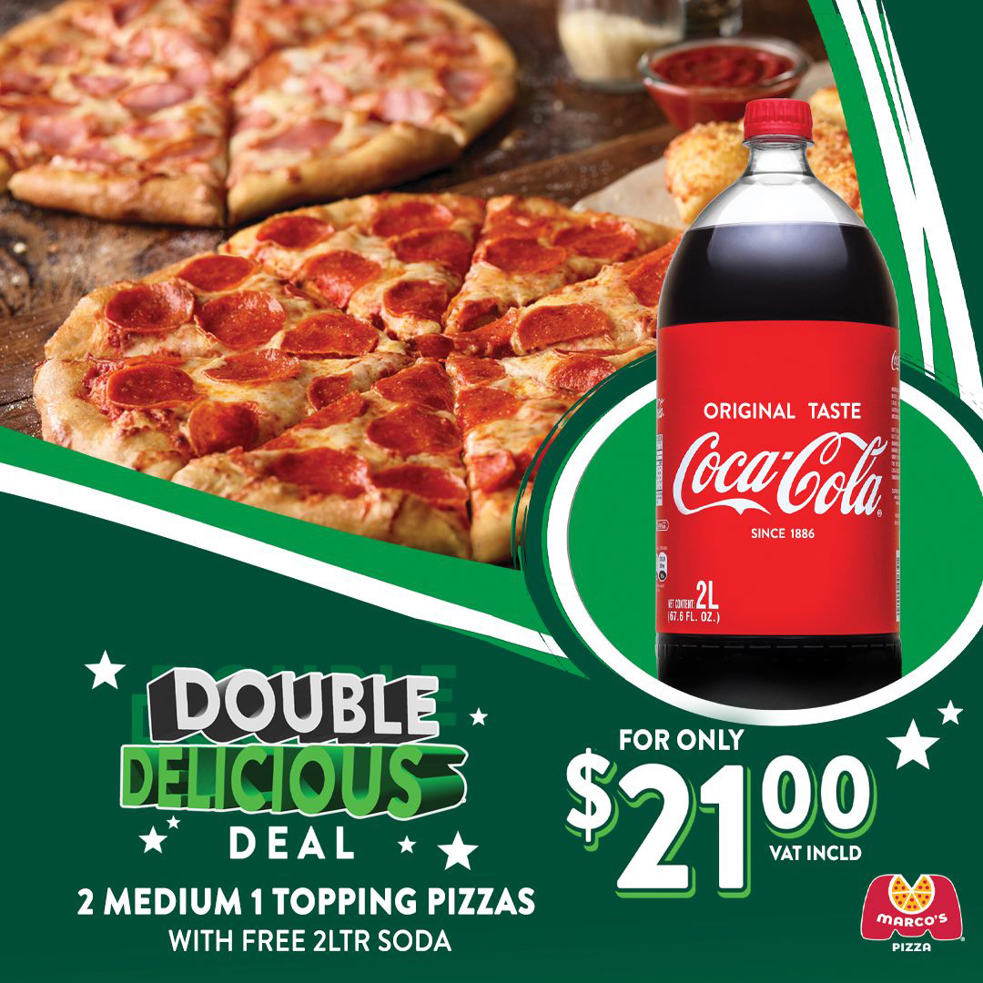 Order the Double Delicious Deal today at Marco's Pizza!