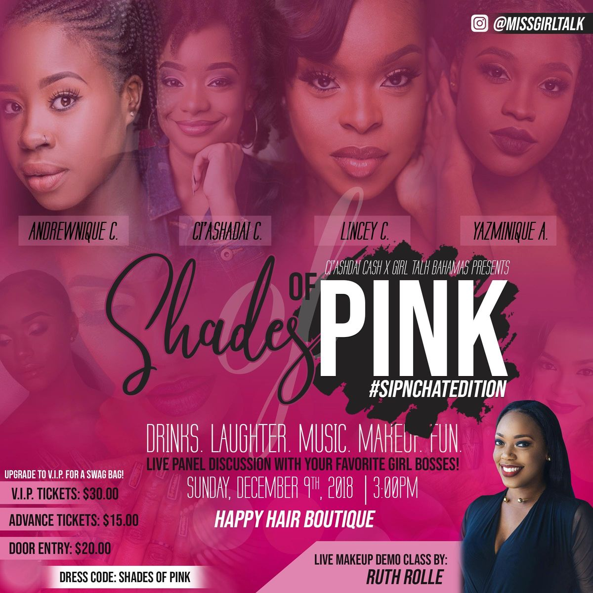 Shades of Pink #SipChatEdition