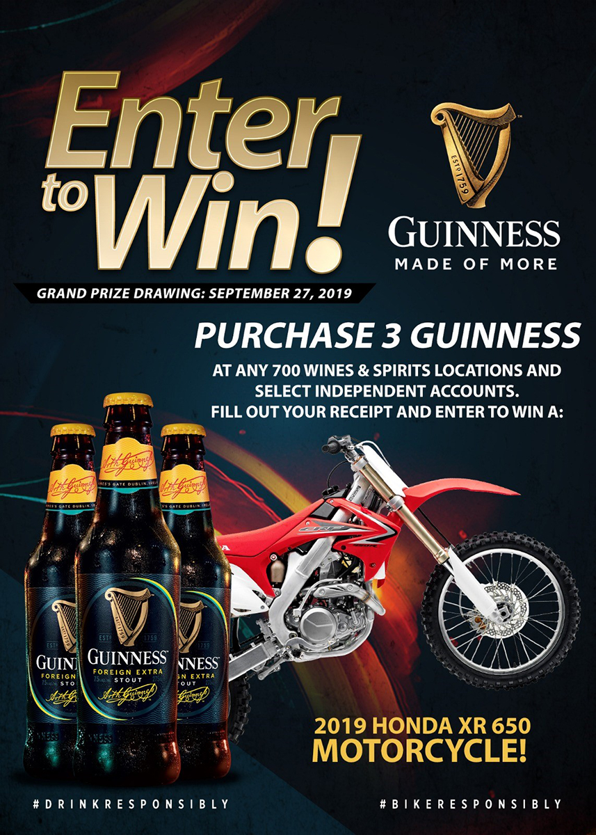 Purchase 3 Guinness Foreign Extra Stout, the number 1 selling Stout in The Bahamas and Enter To Win
