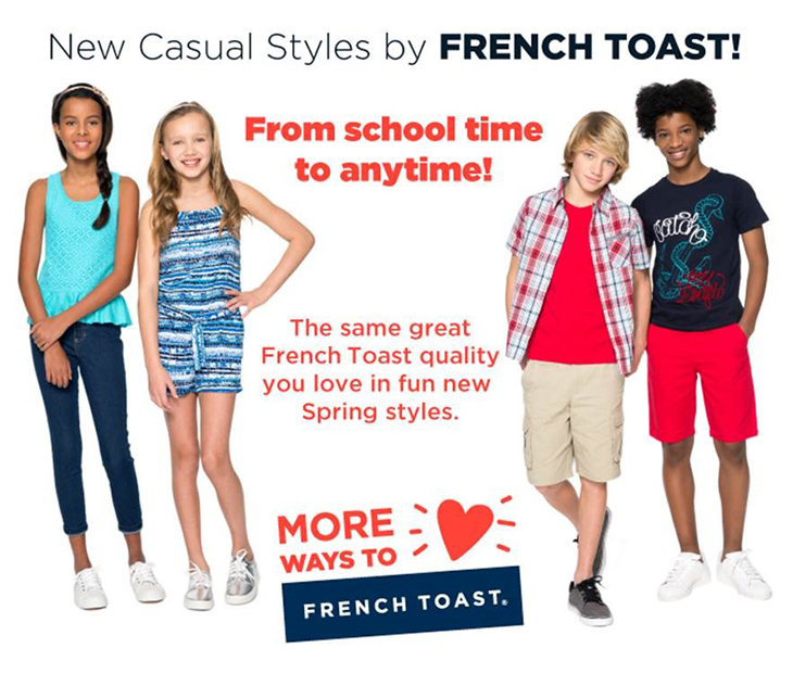 French Toast School Wear At Lorene's
