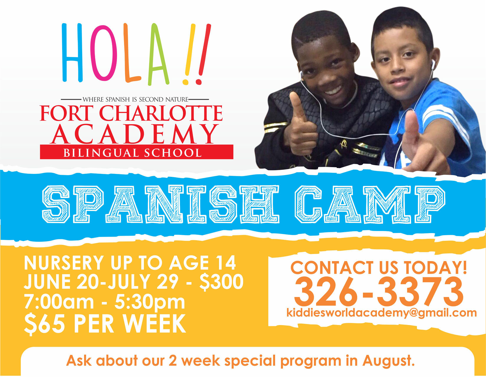 Spanish Camp @ Fort Charlotte Academy