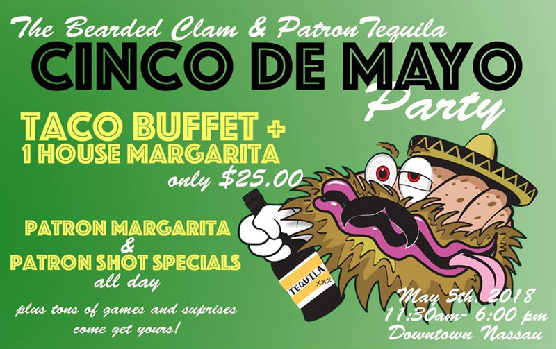 Cinco De Mayo Hosted by The Bearded Clam Sports Bar
