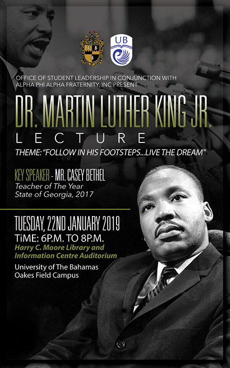 University of The Bahamas Dr. Martin Luther King Lecture