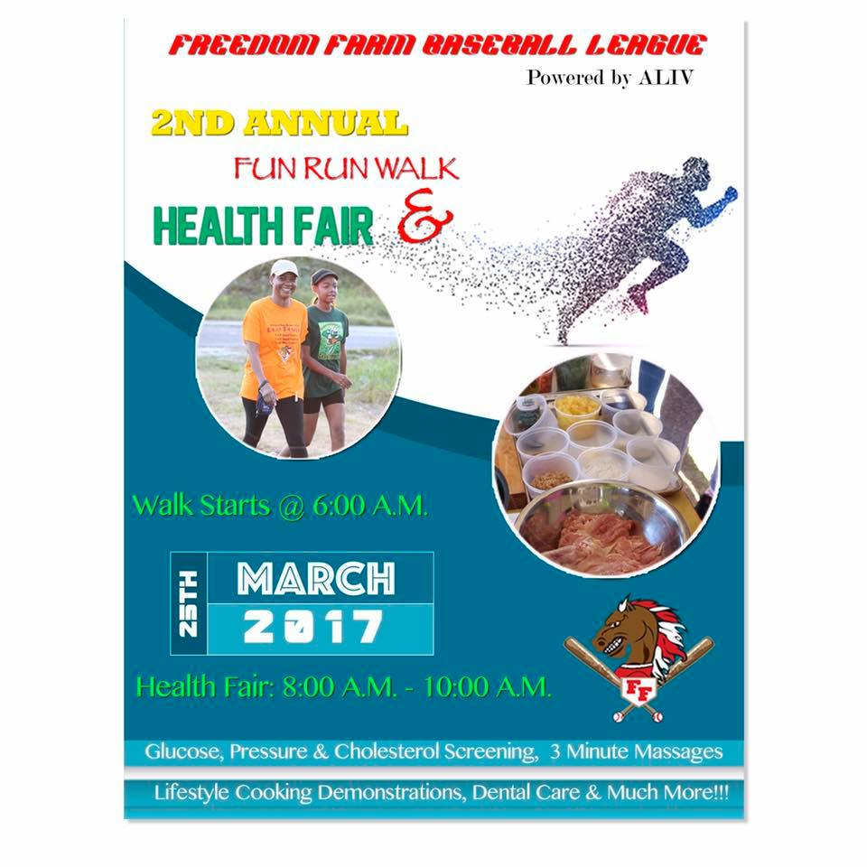 Freedom Farm Baseball League 2nd Annual Fun Run Walk & Health Fair