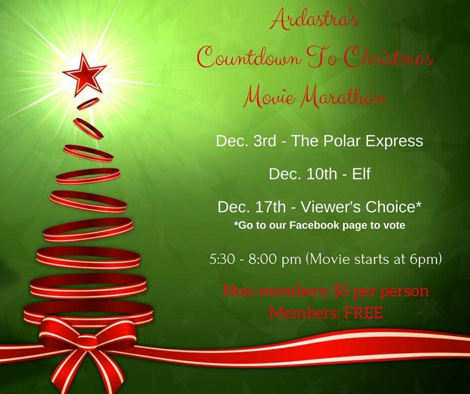 Ardastra's Countdown to Christmas Movie Marathon