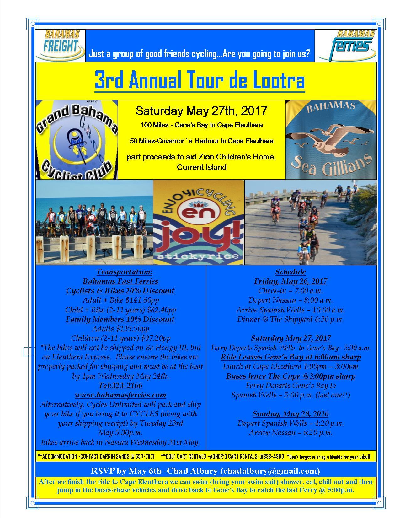 3rd Annual Tour de Lootra