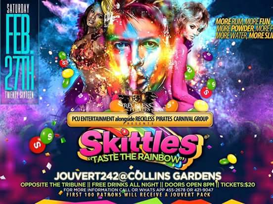 SKITTLES: TASTE THE RAINBOW JOUVERT 242