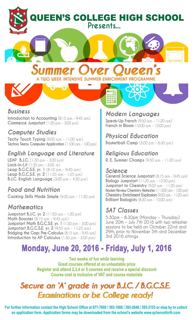 Summer Over Queen's Enrichment Programme