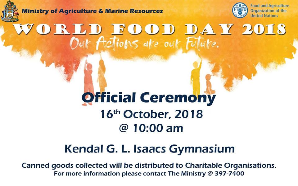 World Food Day Official Ceremony Hosted by The Bahamas Ministry of Agriculture and Marine Resources