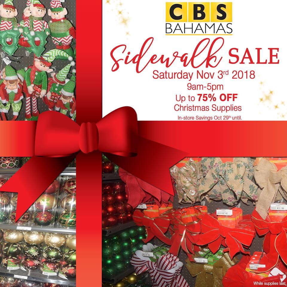 CBS Bahamas Sidewalk Sale