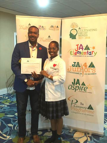 Amani Stuart – winner of JA New Providence's Annual Speech Competition 2018