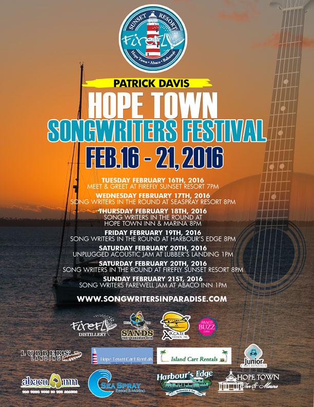 Patrick Davis Hope Town Songwriters Festival
