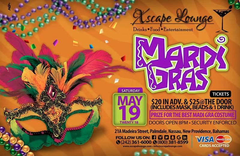 Xscape Lounge Mardi Gras Party Hosted by Xscape Lounge