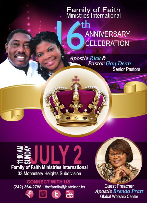 Family of Faith Ministries 16th Anniversary