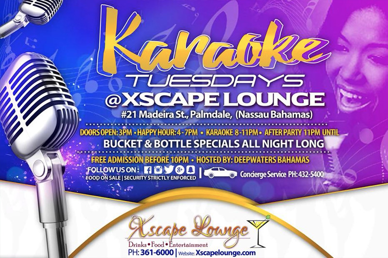 Tuesday Karaoke Night at Xscape Lounge