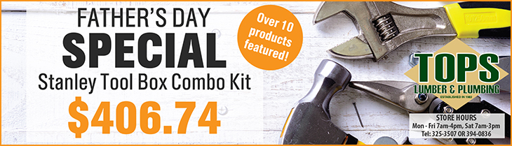 Fathers Day Special At TOPS Lumber | Stanley Tool Box Combo Kit