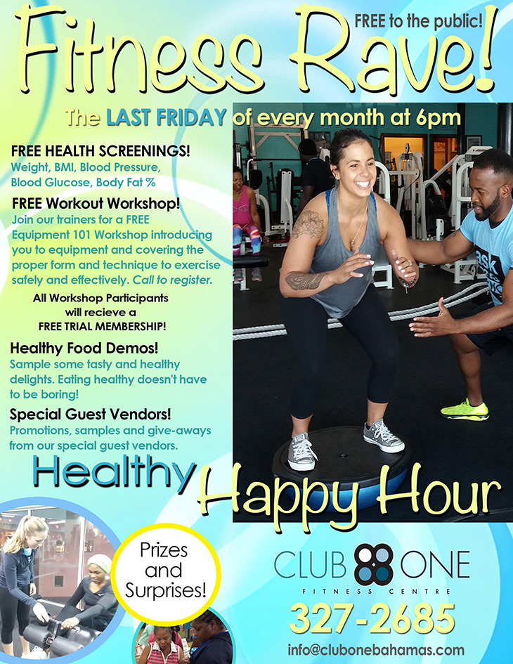 Fitness Rave at Club One Fitness Centre | Every Last Friday In Every Month
