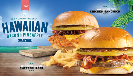 Wendy's NEW Hawaiian Bacon And Pineapple Fest