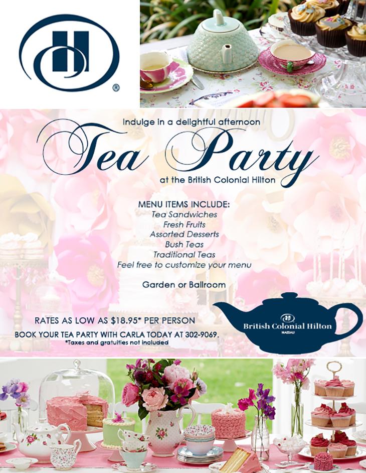 British Colonial Hilton Nassau Tea Party