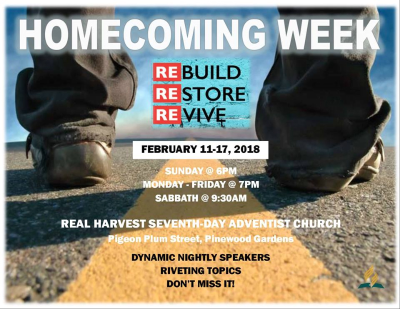 Homecoming Week Hosted by Real Harvest SDA
