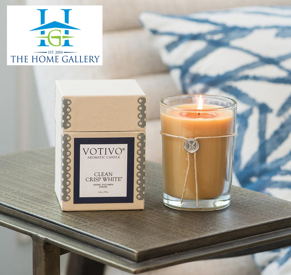 The Home Gallery. Clean Crisp White has a blend of fruity citrus ozone, cyclamen, ylang, lilies, sandalwood & musk.