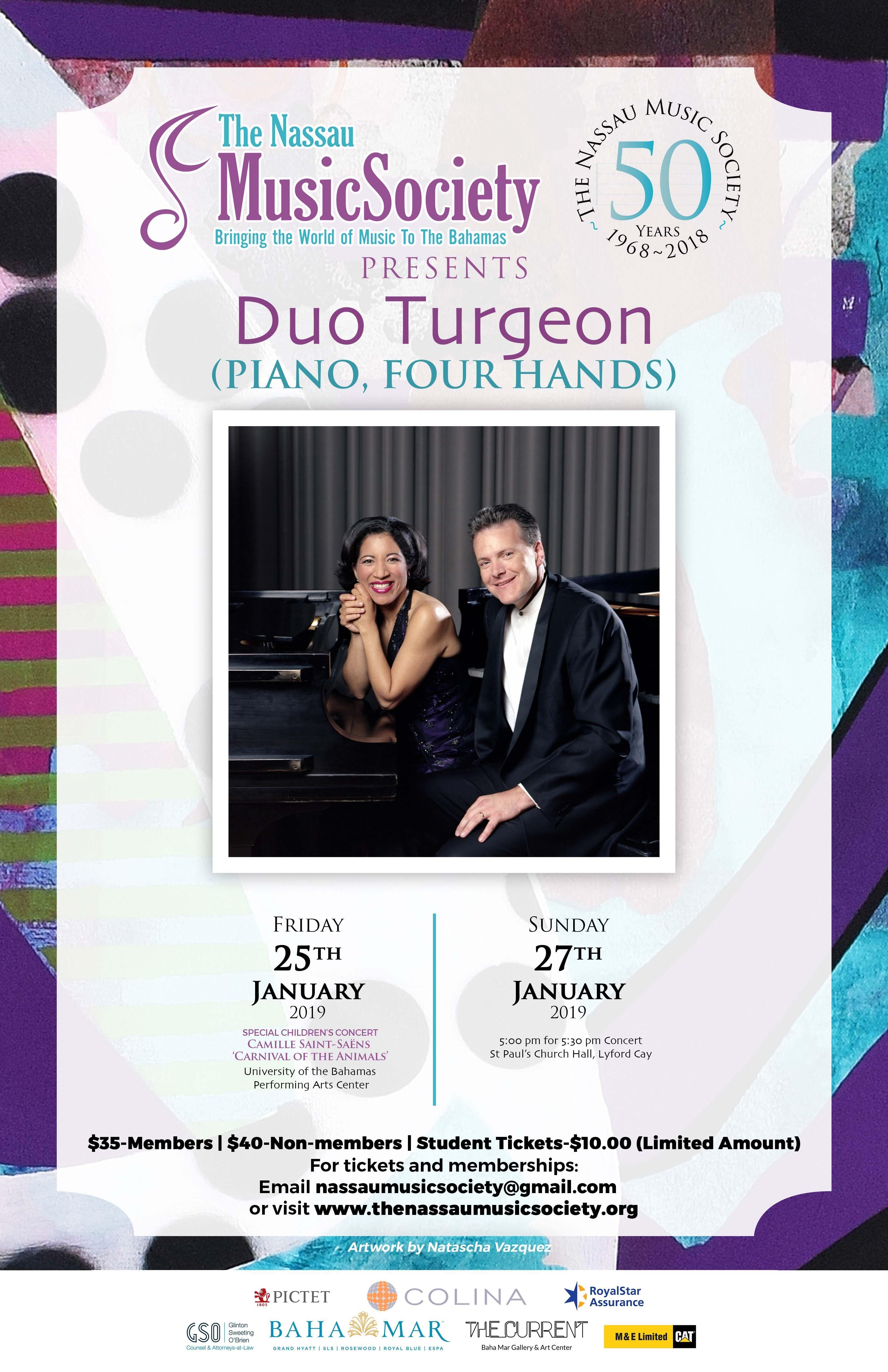 Duo Turgeon: Four Hand Piano Concert & Presentation