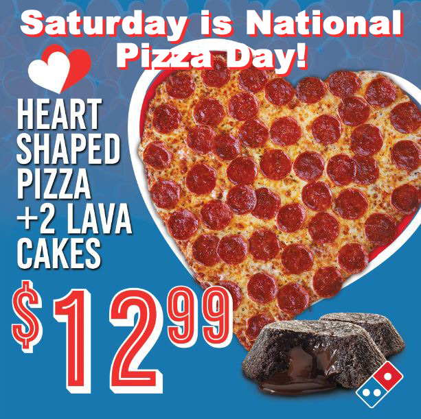 Saturday is National Pizza Day!
