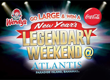 Win a New Year's Legendary Weekend at Atlantis with Wendy's