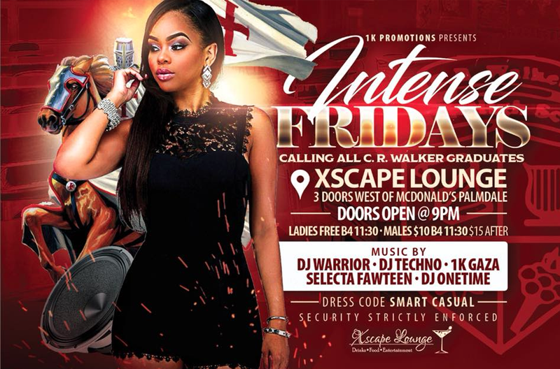 Intense Fridays Hosted by Xscape Lounge