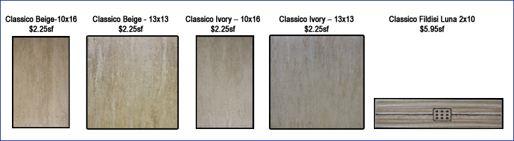 A variety of new types tile available at Pinder Tile