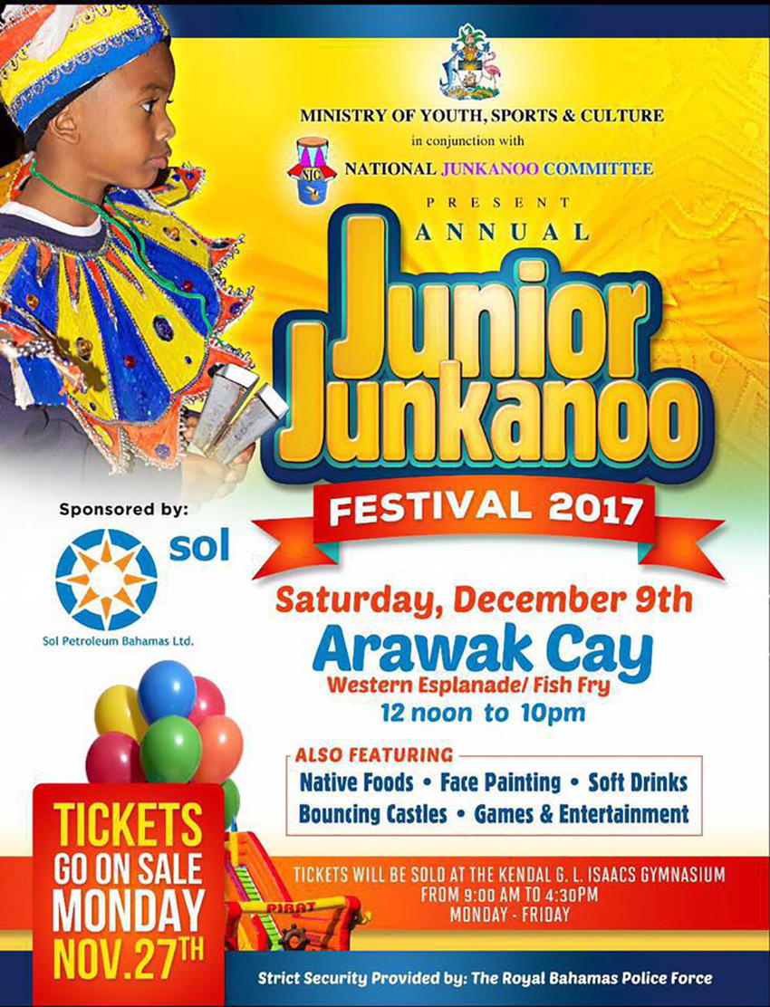 Junior Junkanoo Festival 2017 | SATURDAY, DECEMBER 9TH @ ARAWAK CAY WESTERN ESPLANADE/FISH FRY